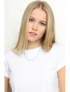 turquoise-beads-necklace by brandy-melville