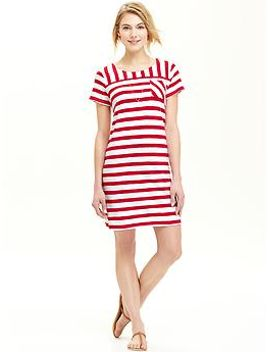 womens-patterned-jersey-shift-dresses by old-navy