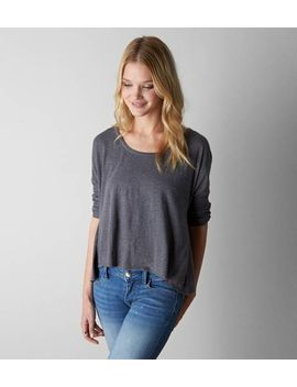 aeo-split-lace-back-t-shirt by american-eagle-outfitters