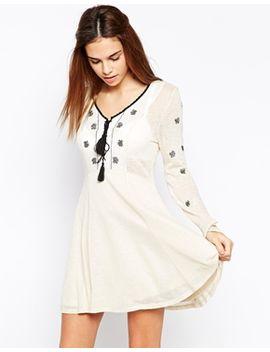 glamorous-folk-embroidery-skater-dress by glamorous