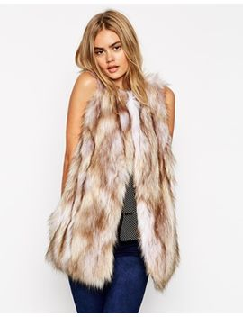 asos-longline-gilet-in-vintage-faux-fur by asos-collection