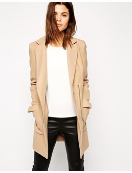 asos-coat-with-biker-detail-and-contrast-trim by asos-collection