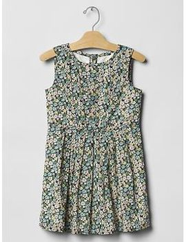floral-pleated-dress by gap