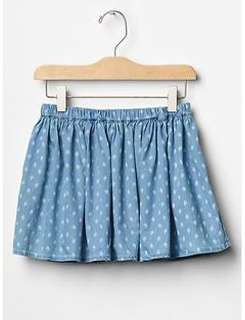 printed-chambray-circle-skirt by gap