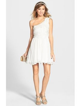 isabella-appliqué-one-shoulder-dress by as-u-wish