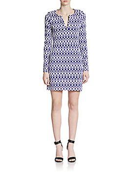 reina-printed-long-sleeve-dress by diane-von-furstenberg