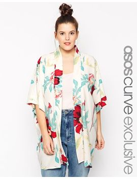 asos-curve-exclusive-kimono-in-gorgeous-floral-print by asos-curve