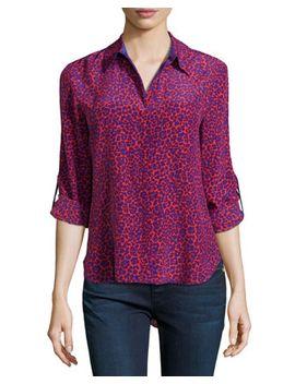 lorelei-leopard-print-silk-blouse,-red_purple by diane-von-furstenberg