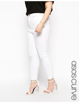 asos-curve-ridley-ankle-grazer-jeans-in-white-with-rip-and-destroy-bust by asos-curve