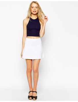 asos-a-line-skirt-in-ponte by asos-collection
