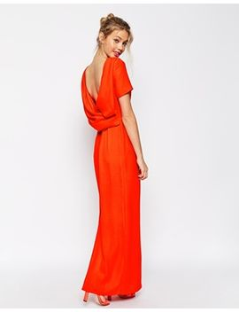 asos-cowl-back-crepe-maxi-dress by asos-collection