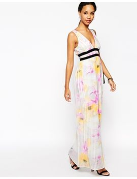 river-island-pleated-plunge-neck-maxi-dress by river-island