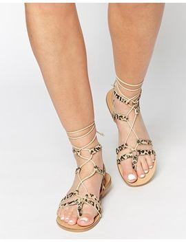 asos-foozle-leather-lace-up-sandals by asos-collection