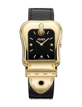 b-fendi-diamond-index-buckle-watch,-black by fendi