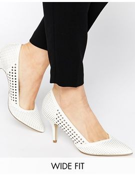 new-look-wide-fit-rally-white-pefrorated-heeled-pumps by new-look