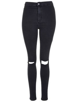 moto-washed-black-busted-knee-joni-jeans by topshop