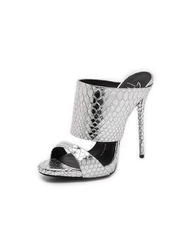silver-snake-sandals by giuseppe-zanotti