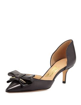 rietta-bow-dorsay-pump,-nero by salvatore-ferragamo