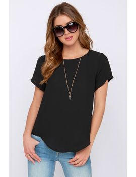coffee-date-black-top by lulus