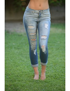 destroyed-cuffed-capri---light-denim by fashion-nova