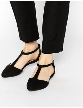 new-look-josie-t-bar-flat-shoes by new-look