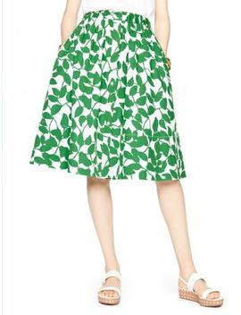 garden-leaves-poplin-skirt by kate-spade