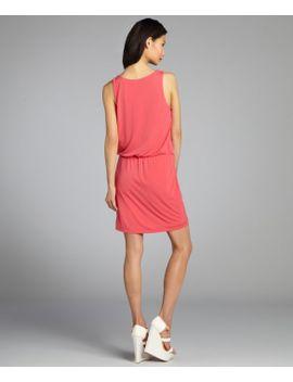 watermelon-draped-neck-elastic-waist-sleeveless-jersey-knit-dress by miller