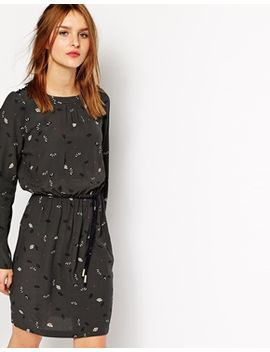 sessun-long-sleeved-dress-in-fan-print by sessun