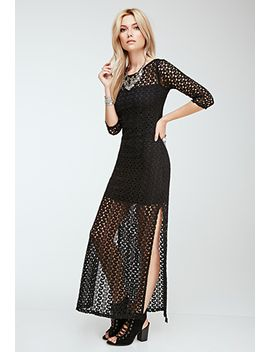 longline-crochet-overlay-dress by forever-21