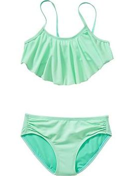 girls-ruffle-top-bikinis by old-navy