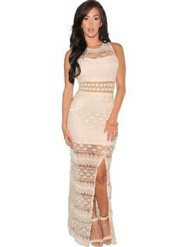 cream-crochet-accent-lace-evening-dress by oasap