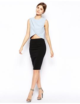 asos-high-waisted-pencil-skirt by asos-collection