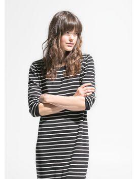 striped-jersey-dress by mango