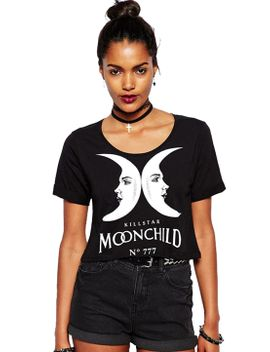 moon-letters-print-crop-t-shirt by romwe