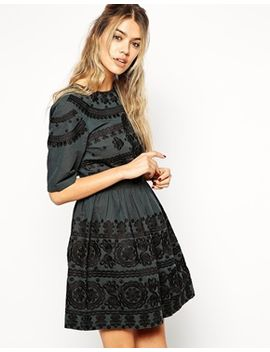 asos-premium-mini-dress-with-russian-doll-embroidery by asos-collection