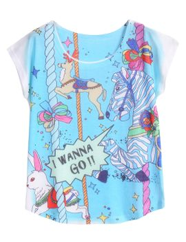 animal-print-blue-t-shirt by romwe