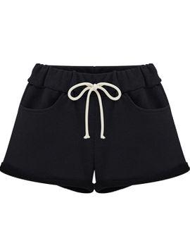 drawstring-waist-straight-shorts by romwe