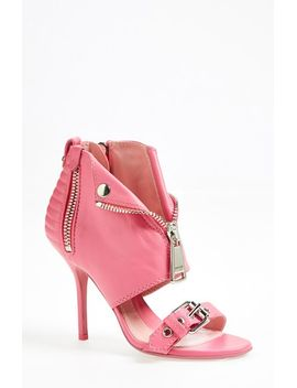 moto-jacket-leather-sandal by moschino