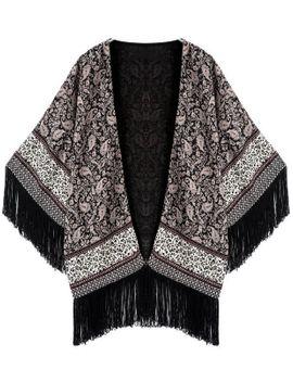 tassel-print-loose-kimono by romwe