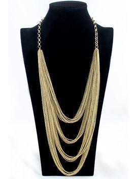 fashion-jewelry-bold-design-multi-layers-waterfall-gold-tassel-necklace by romwe