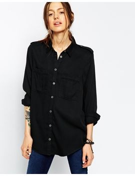 asos-washed-military-shirt by asos-collection