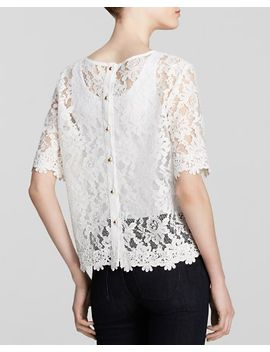 asriel-short-sleeve-lace-top by kut-from-the-kloth
