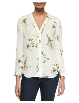 yvetta-floral-print-silk-blouse by joie