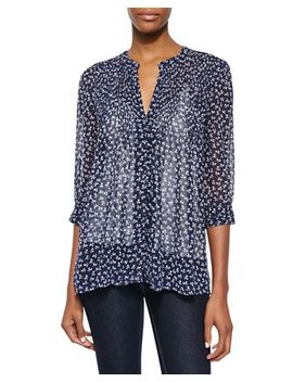 laurel-floral-print-silk-blouse by joie