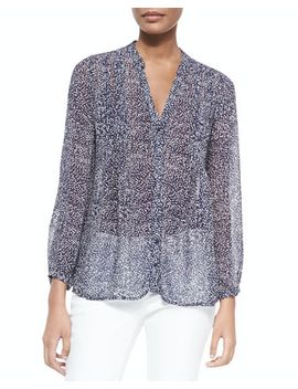 martine-c-printed-silk-blouse by joie