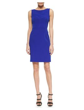 mika-sleeveless-sheath-dress,-cobalt by milly