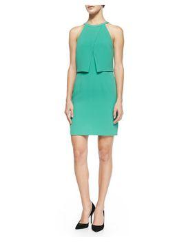 bibelot-cross-front-fitted-dress by tibi