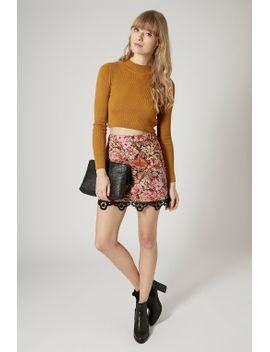 petite-tapestry-a-line-skirt by topshop
