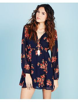 ethereal-floral-print-surplice-dress by wet-seal