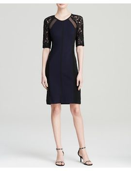 dress---lace-sleeve by rebecca-taylor